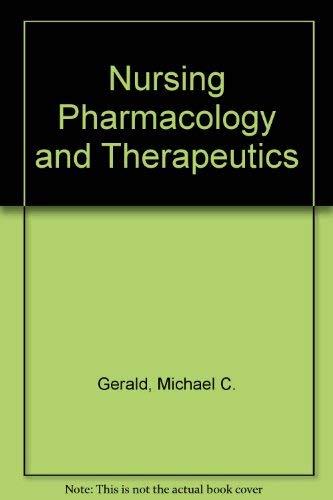 9780136275053: Nursing pharmacology and therapeutics