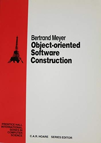 9780136290315: Object-oriented Software Construction (Prentice Hall International Series in Computing Science)