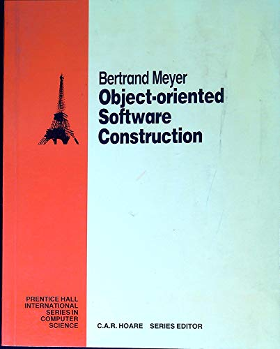 9780136290490: Object-Oriented Software Construction (Prentice-Hall International series in computer science)
