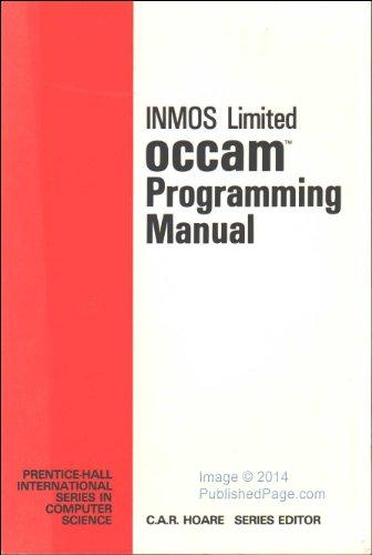 9780136292968: Occam Programming Manual (Prentice-Hall international series in computer science)