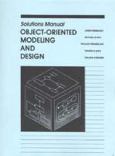 9780136298588: Object Oriented Modelling and Design: Solutions Manual