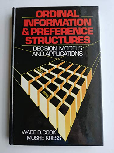9780136301202: Ordinal Information and Preference Structures: Decision Models and Applications