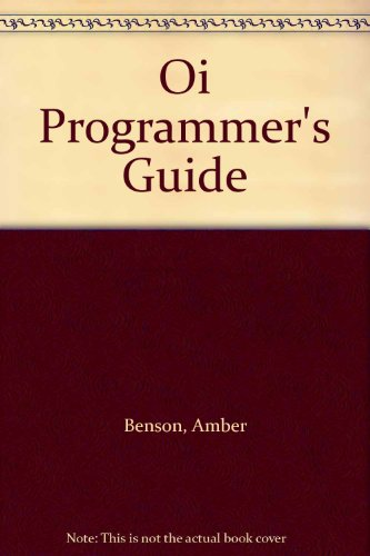 9780136313830: Oi Programmer's Guide
