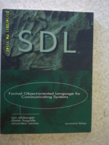 9780136328865: Sdl: Formal Object-Oriented Language for Communication Systems