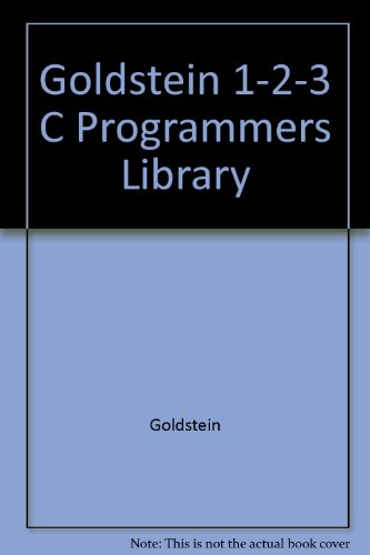 9780136351535: Goldstein 1-2-3 C Programmers Library