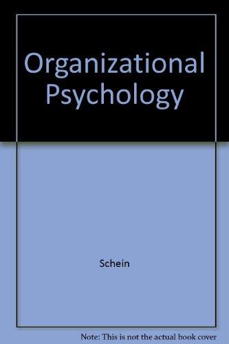 9780136360100: Organizational Psychology