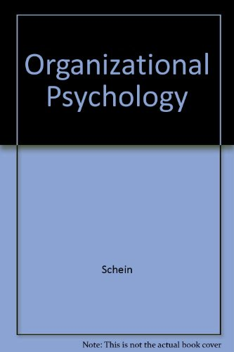 9780136360100: Organizational Psychology