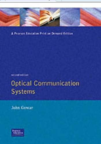 9780136387275: Optical Communication Systems (Optoelectronics)