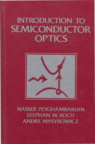 9780136389903: Introduction to Semiconductor Optics (Prentice Hall Series in Solid State Physical Electronics)