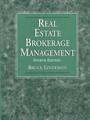 9780136396345: Real Estate Brokerage Management