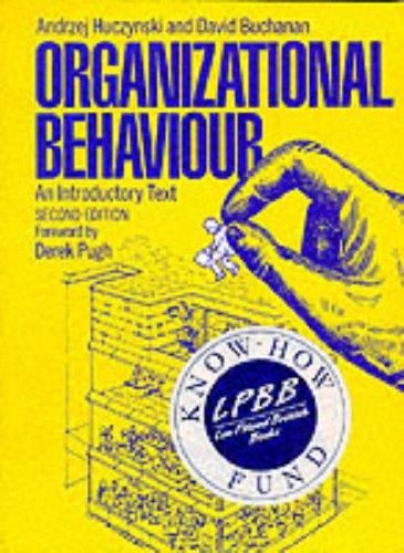 9780136398998: Organizational Behaviour: An Introductory Text