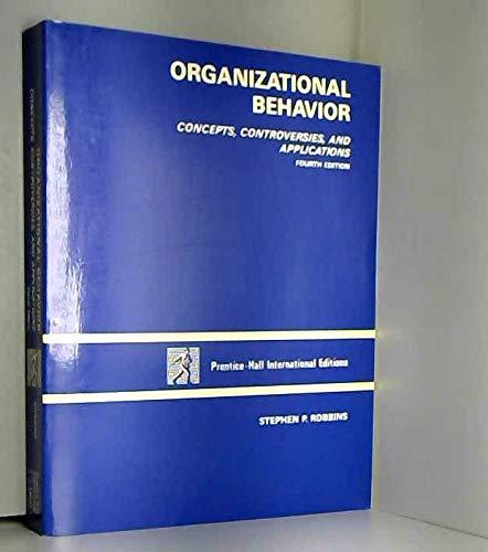 Organizational Behavior (0136407641) by Robbins