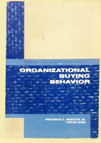 9780136409533: Organizational Buying Behaviour (Foundations of Marketing)