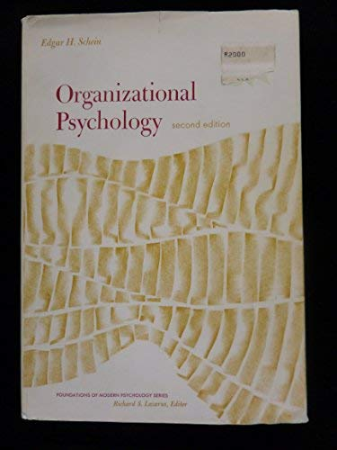 9780136411345: Organizational Psychology (Foundations of Modern Psychology)