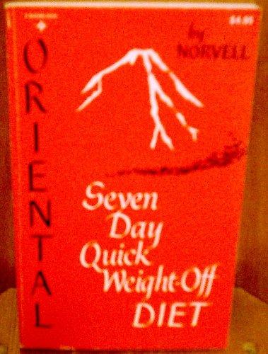 9780136421245: Oriental 7-Day Quick Weight-Off Diet