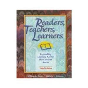 9780136472728: Readers, Teachers, Learners: Expanding Literacy Across the Content Areas (3rd Edition)