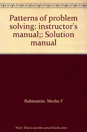 9780136541035: Patterns of problem solving: instructor's manual;: Solution manual