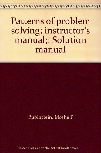9780136541035: Patterns of problem solving