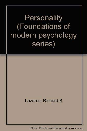 9780136576921: Personality (Foundations of modern psychology series)
