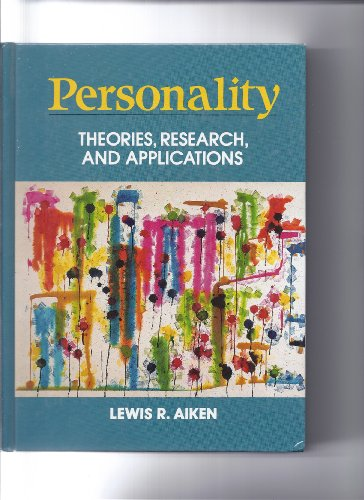 9780136587330: Personality: Theories, Research, and Applications