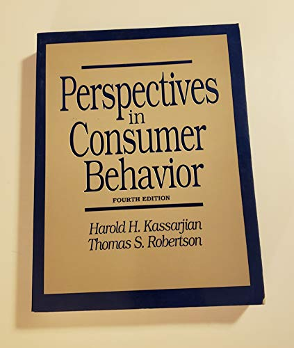 Perspectives in Consumer Behavior: Thomas S. Robertson;
