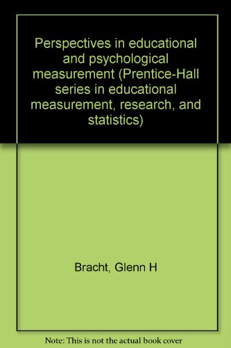 Perspectives in Educational and Psychological Measurement: Kenneth D. Hopkins;