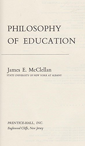 9780136633020: Philosophy of Education (Foundations of Philosophy)