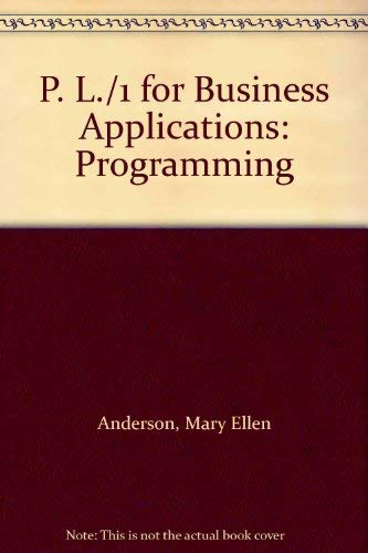 9780136769576: P. L./1 for Business Applications: Programming