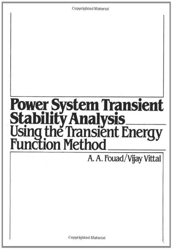 9780136826750: Power System Transient Stability Analysis Using the Transient Energy Function Method