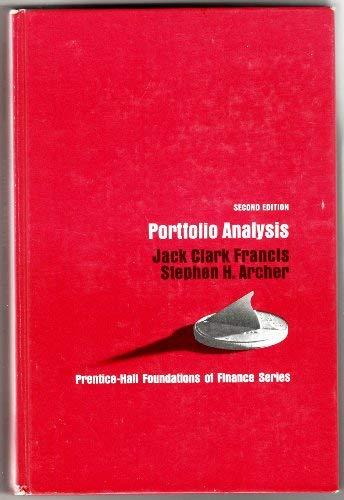9780136866756: Portfolio Analysis (Foundations of Finance)