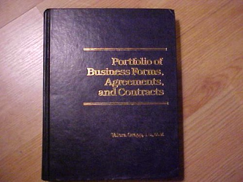 9780136867913: Portfolio of Business Forms, Agreements and Contracts
