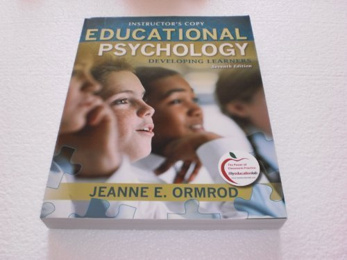 9780137001194: Educational Psychology Developing Learners Instructor's Copy