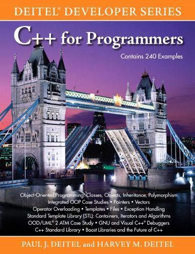 9780137001309: C++ for Programmers (Deitel Developer)