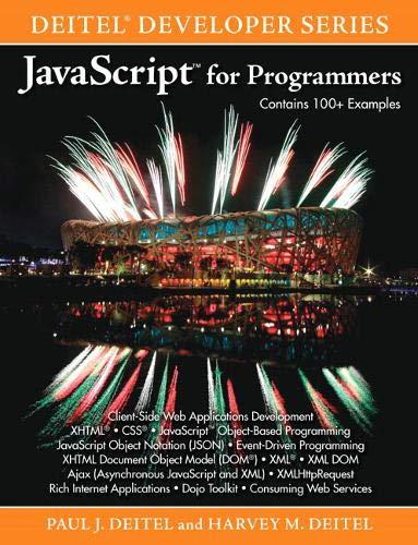 9780137001316: JavaScript for Programmers