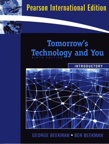 9780137002733: Tomorrow's Technology and You, Introductory