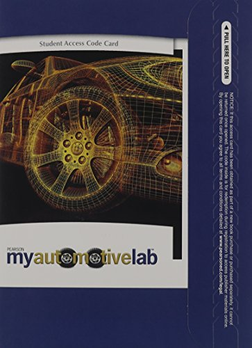 9780137003846: MyAutomotiveLab without Pearson eText -- Access Card