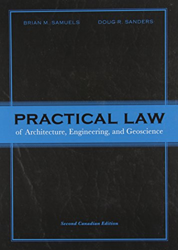 9780137004089: Practical Law of Architecture, Engineering, and Geoscience, Second Canadian Edition