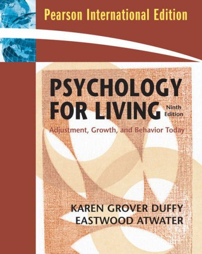 9780137004829: Psychology for Living AdjustmentGrowthand Behavior Today - 9th ed