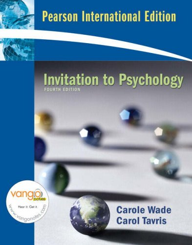 9780137004843: Invitation to Psychology