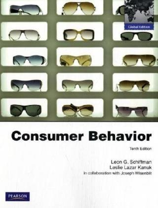 Consumer behavior by leon schiffman abebooks fandeluxe Image collections