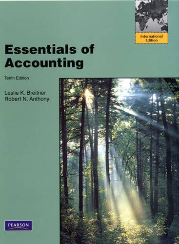 9780137008063: Essentials of Accounting: International Edition (Reversible Edition)
