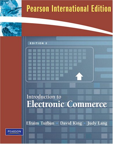 Introduction to Electronic Commerce: International Version: Turban, Efraim &