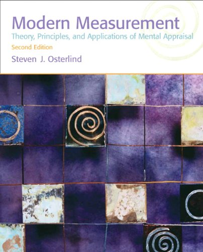 9780137010257: Modern Measurement: Theory, Principles, and Applications of Mental Appraisal (2nd Edition)