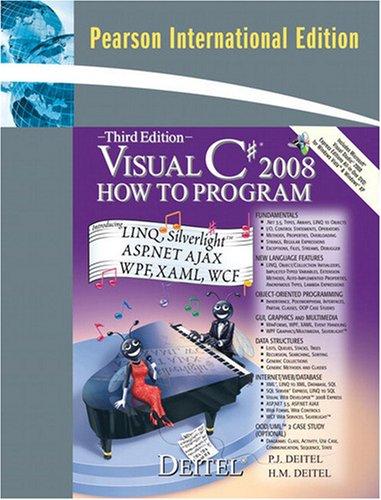 9780137011834: Visual C# 2008 How to Program