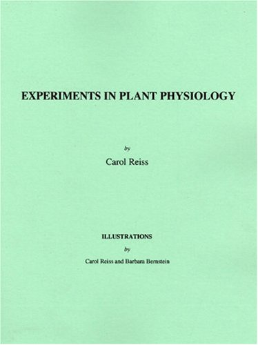9780137012855: Experiments in Plant Physiology