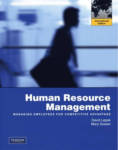 9780137012954: Human Resource Management: Managing Employees for Competitive Advantage
