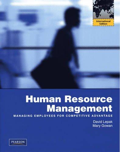 9780137012954: Human Resource Management: International Edition