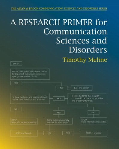 Research Primer for Communication Sciences and Disorders: Meline, Timothy