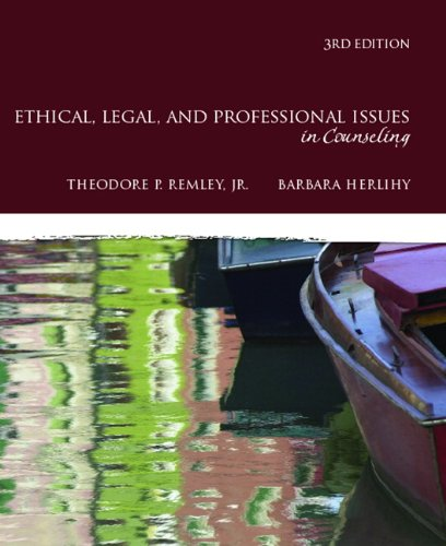 9780137016716: Ethical, Legal, and Professional Issues in Counseling (3rd Edition)