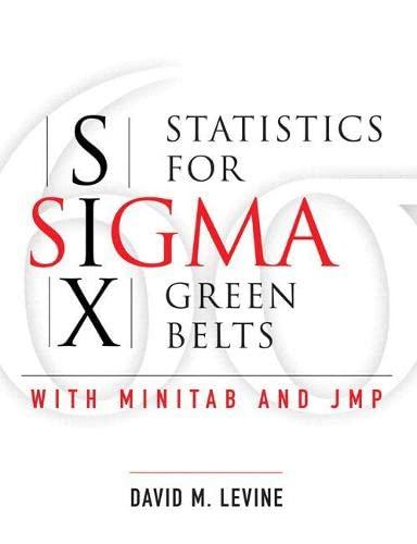 9780137017126: Statistics for Six Sigma Green Belts with Minitab and JMP